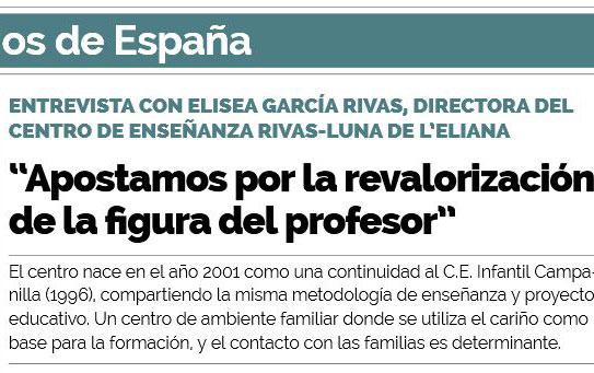 """Aparecemos en el artículo """"Los mejores colegios de España"""""""